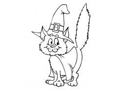 Тигровая кошка - раскраски для детей 7