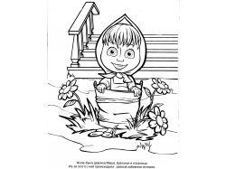 Бурый медведь - раскраски для детей 7