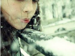 Девушки зимой картинки 7