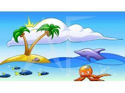 Рисунки лето море 7