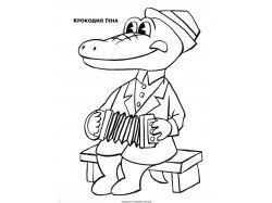 Гребнистый крокодил - раскраски для детей 7
