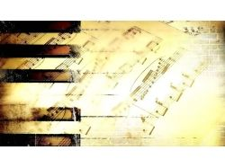Широкоформатные обои музыка 7