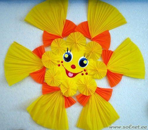 В детском саду солнышко своими руками из ткани