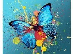Абстракция рисунки бабочка 7