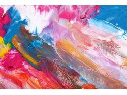 Абстракция рисунки красками 7