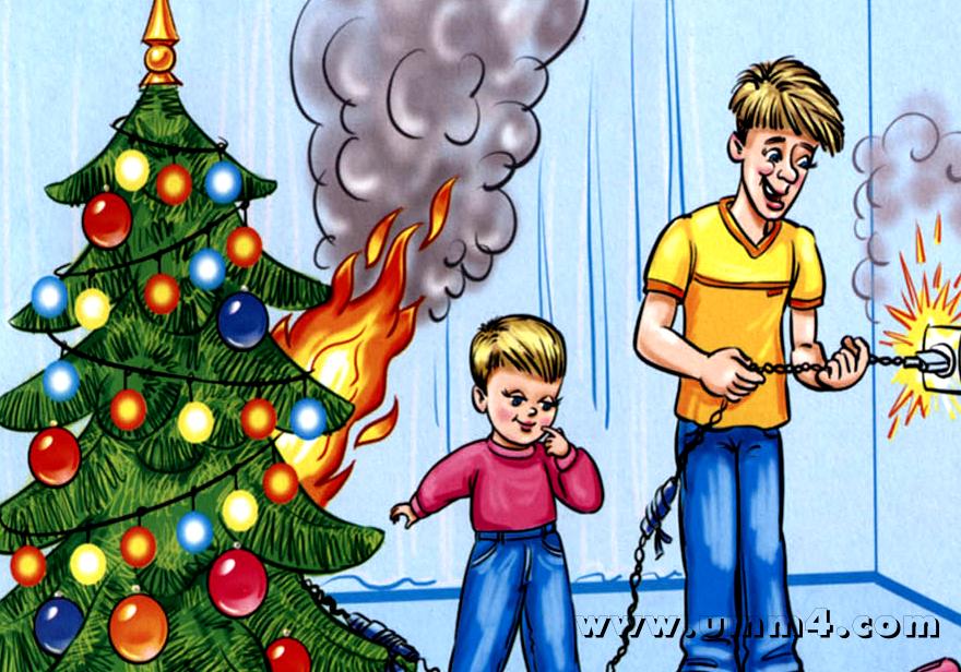 Рисунки безопасность в новый год