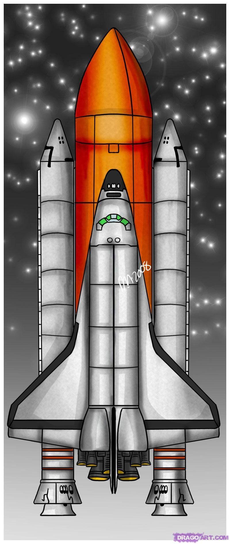 Ракета на фото рисованная