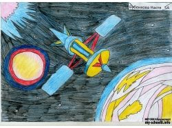 Космос рисунки карандашом 7
