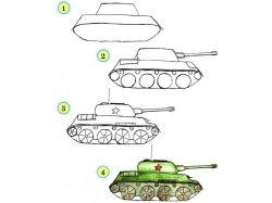 Танки рисунки для детей 7
