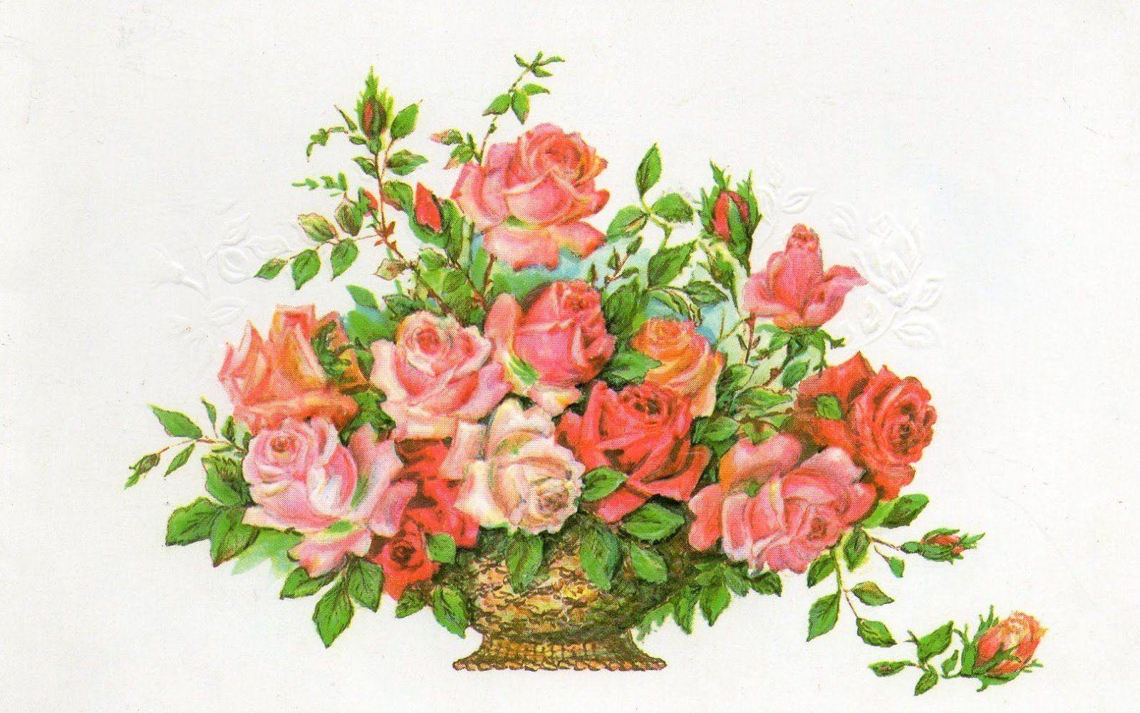 Картинки открыток на день рождения с цветами