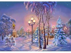 Анимированные картинки зима 7