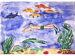 Подводный мир рисунки графика 7