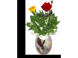 Анимационные картинки цветы, бабочки, спасибо, привет 7