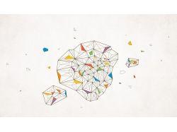 Абстракция из геометрических фигур рисунки 7