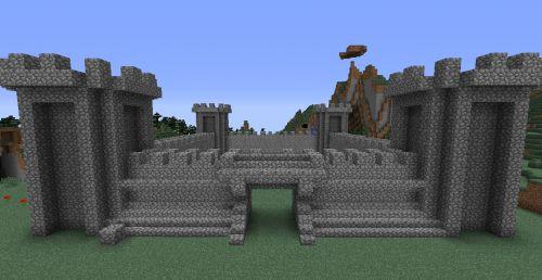 Как сделать замок в майнкрафт видео