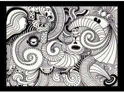 Рисунок абстракция цветы 3