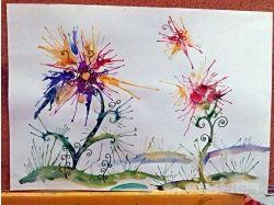 Рисунок абстракция цветы 6