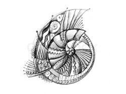 Рисунки карандашом абстракция для начинающих 3