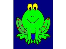 Лягушка - раскраски для детей 7
