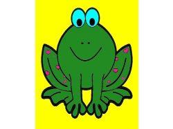 Лягушка - раскраски для детей 3