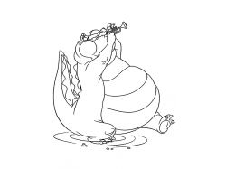 Лягушка - раскраски для детей 5