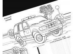 Машина - раскраски для детей 2