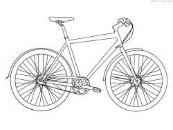 Велосипед - раскраски для детей 2