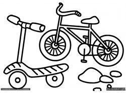 Велосипед - раскраски для детей 3