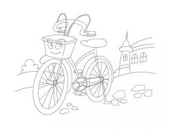 Велосипед - раскраски для детей 5