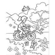 Велосипед - раскраски для детей 6