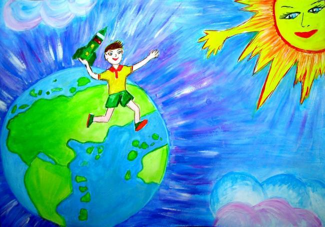 Рисунки о космосе и экология