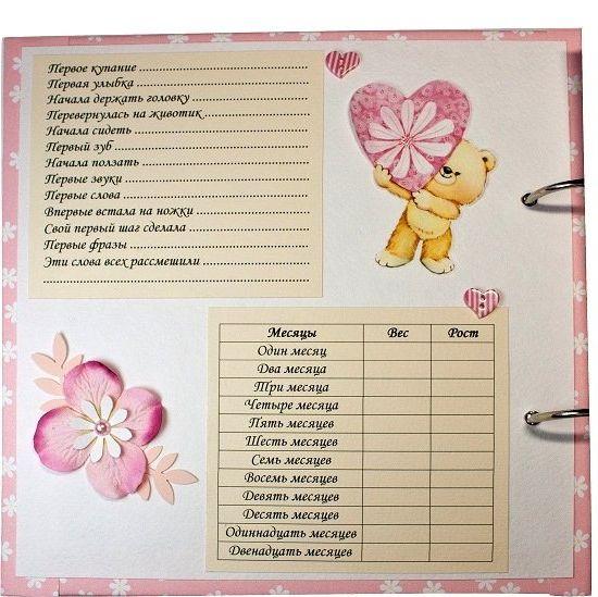 Дневник для новорожденного своими руками