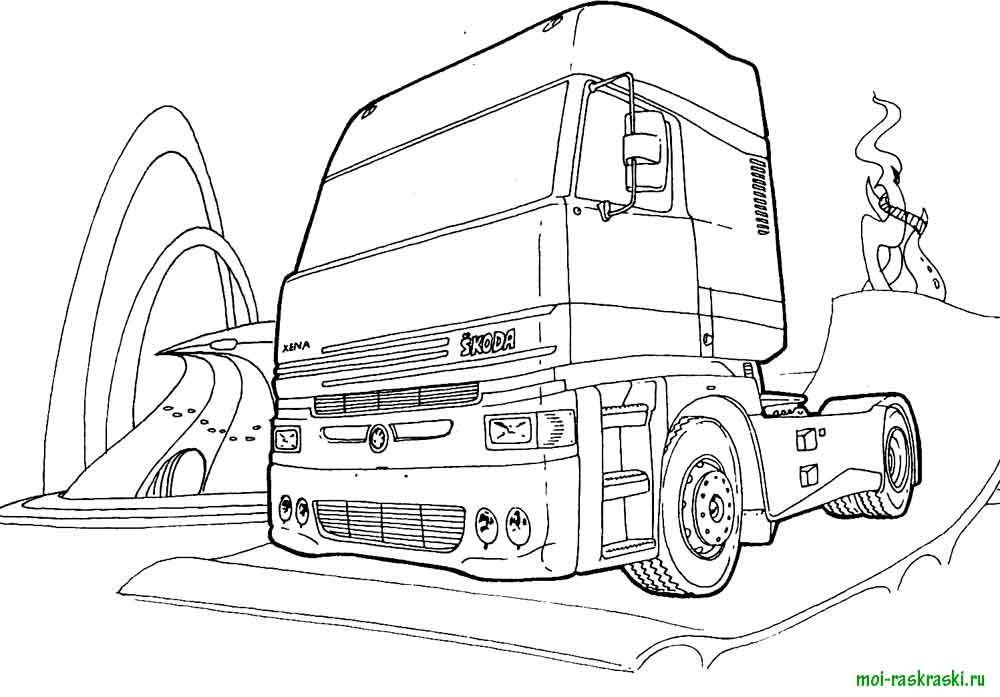 Раскраски на грузовиках