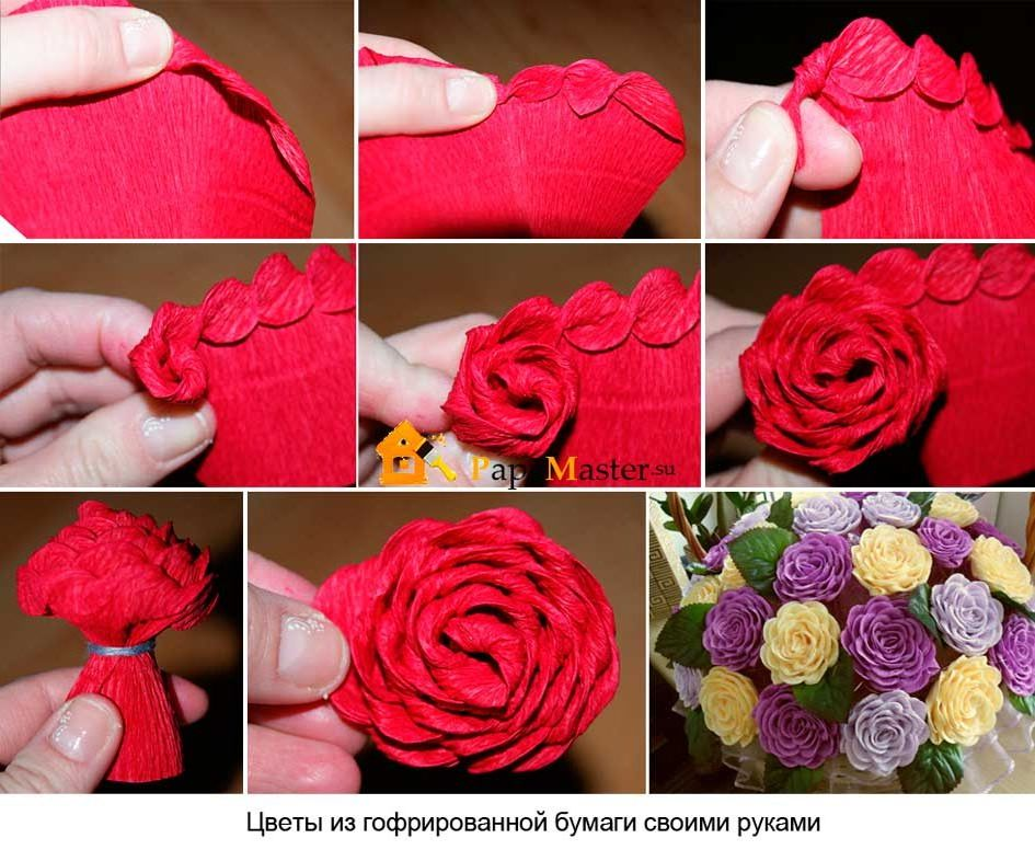 Как сделать гофрированные цветы из бумаги своими руками