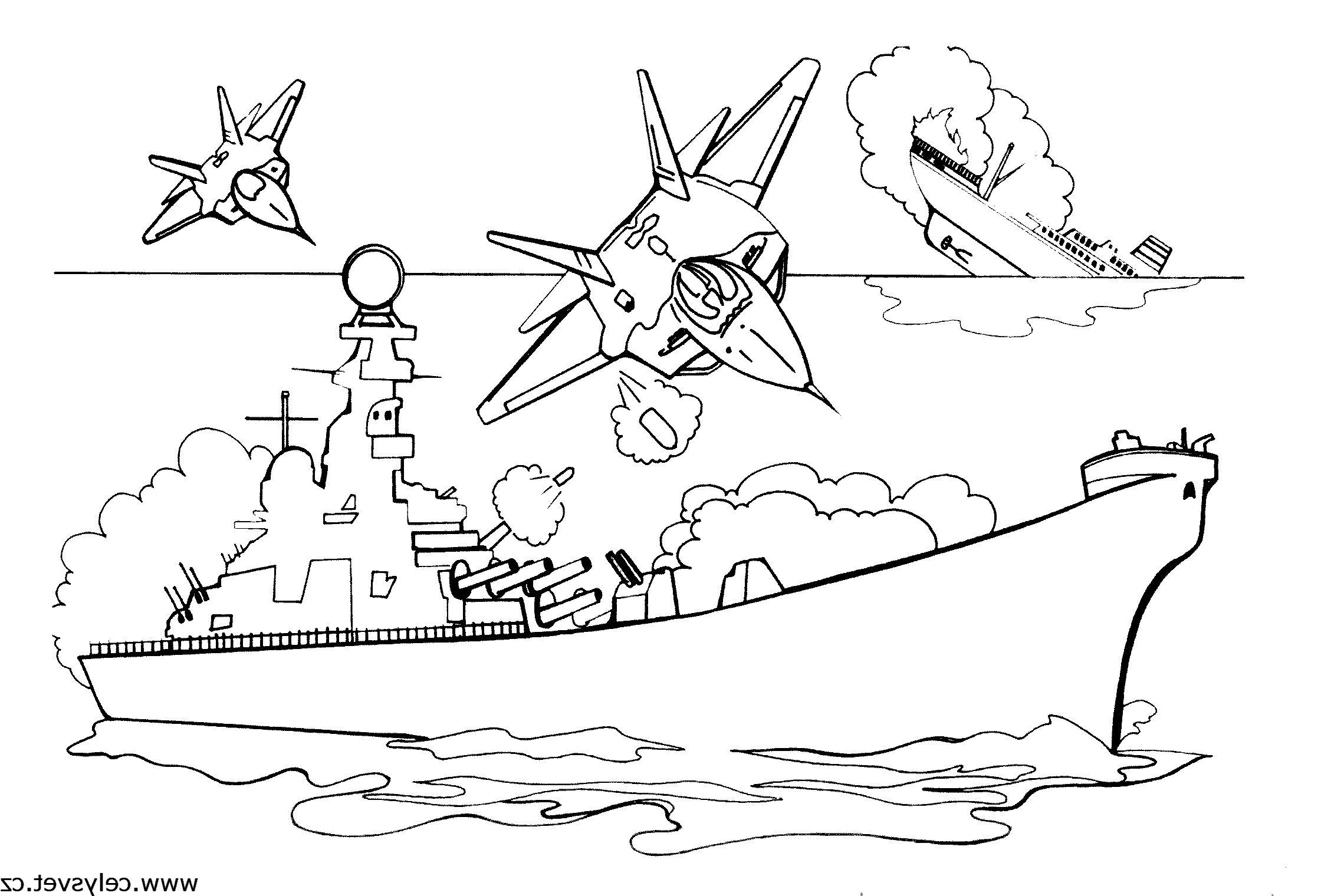 Раскраска для мальчиков военная техника - 7