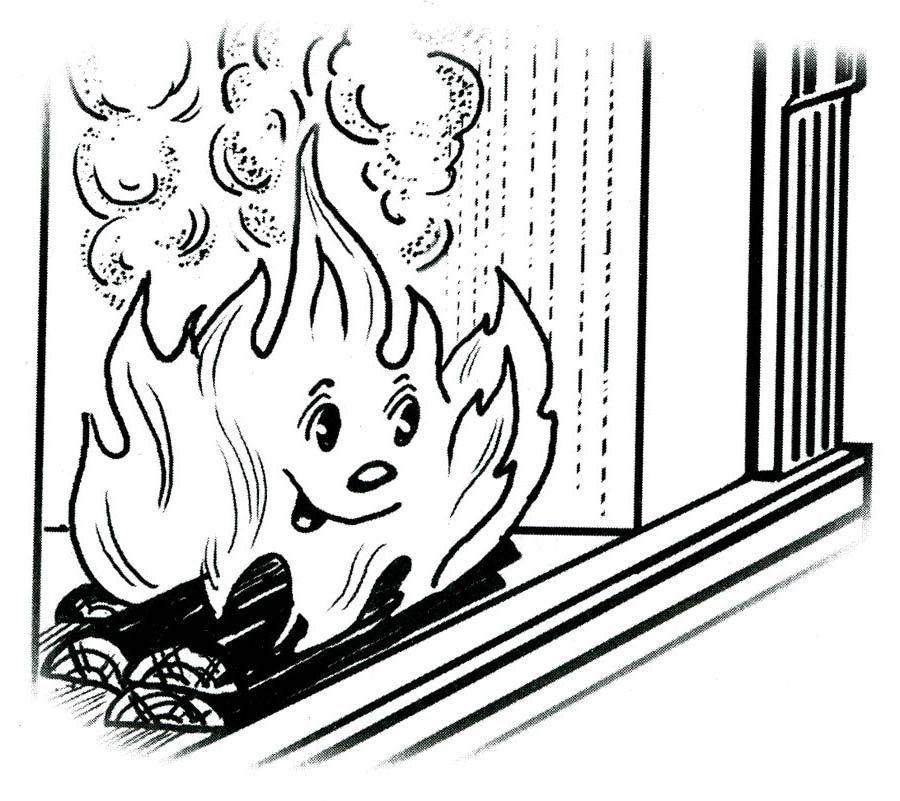 Нет огню раскраски
