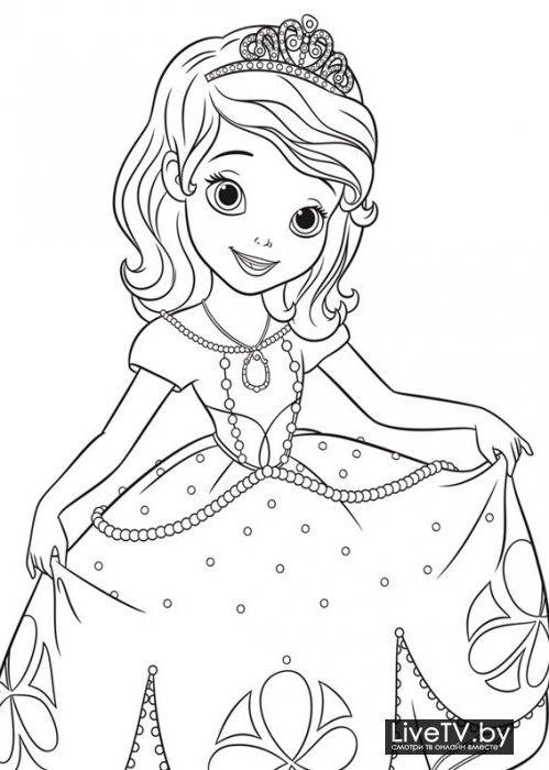 Раскраска принцесса софия » Скачать картинки бесплатно на ...