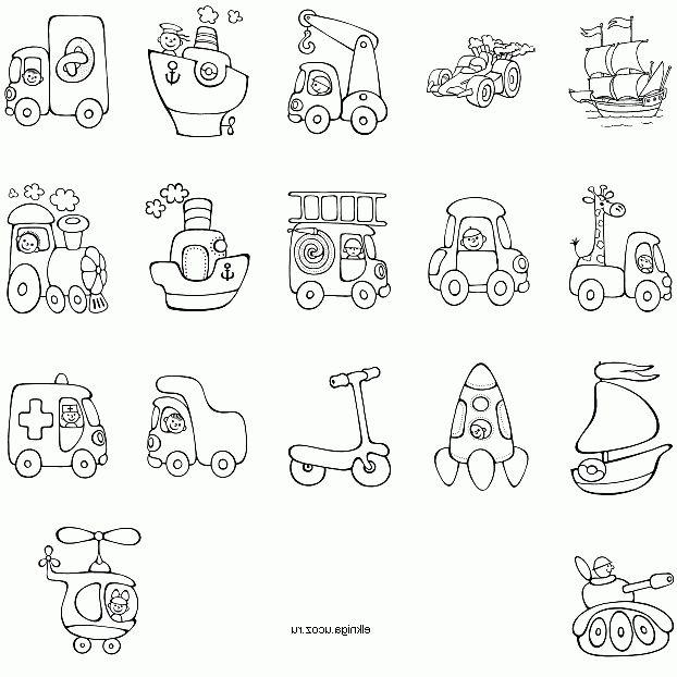 Раскраски транспорт для детей - 1