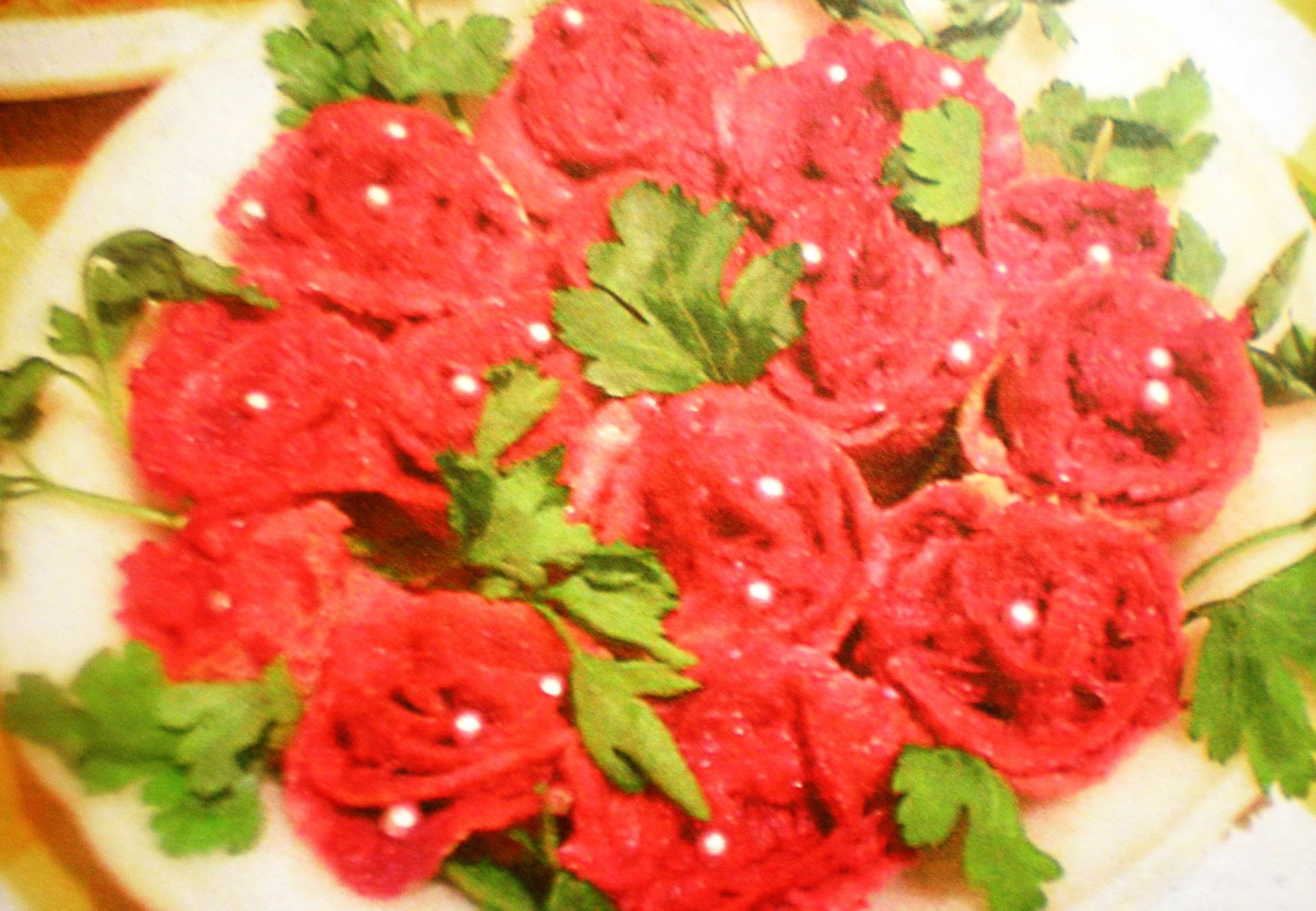 Рецепт салата букет роз