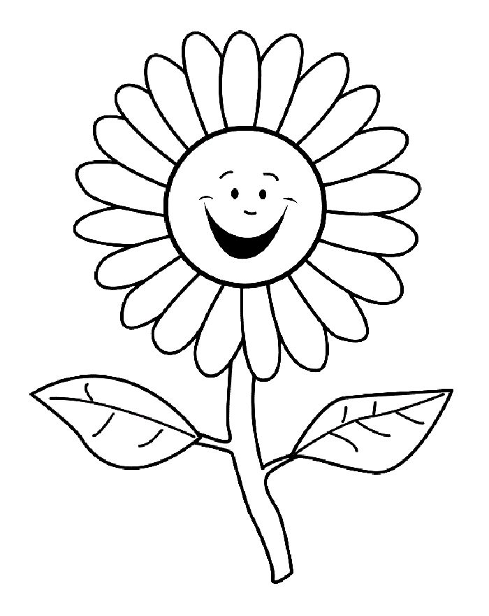 Раскраски для детей-цветы