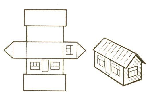 Макет дома своими руками из бумаги 139