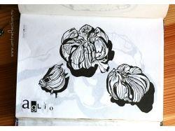Рисунки черной ручкой 4