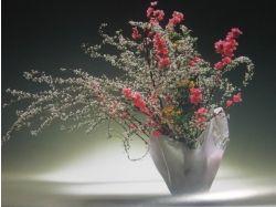 Экибана из цветов 3