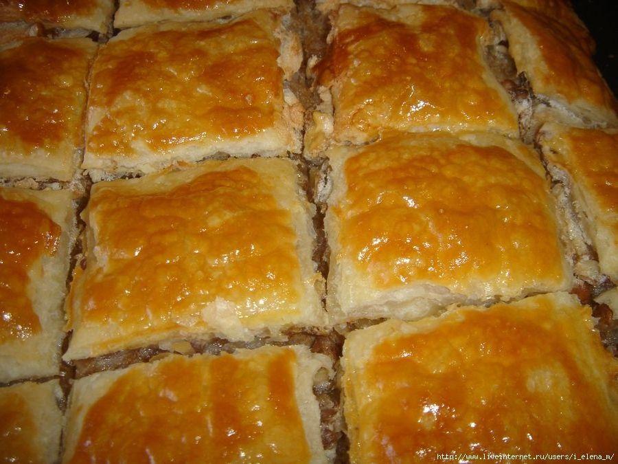 Слоёное тесто сладкиеы из него с фото пошагово