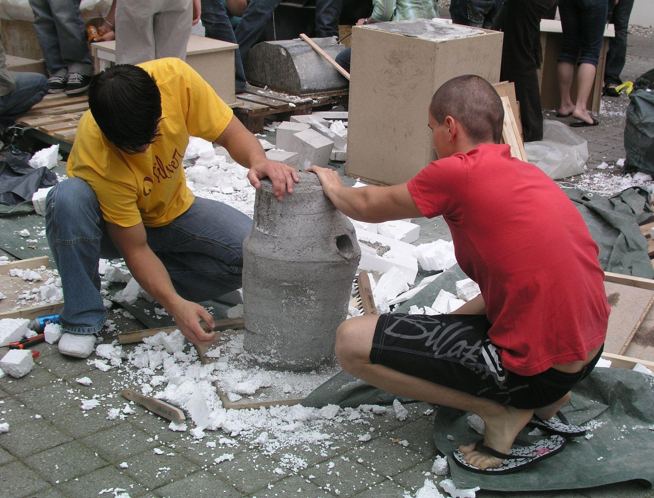 Поделки для сада из бетона своими руками
