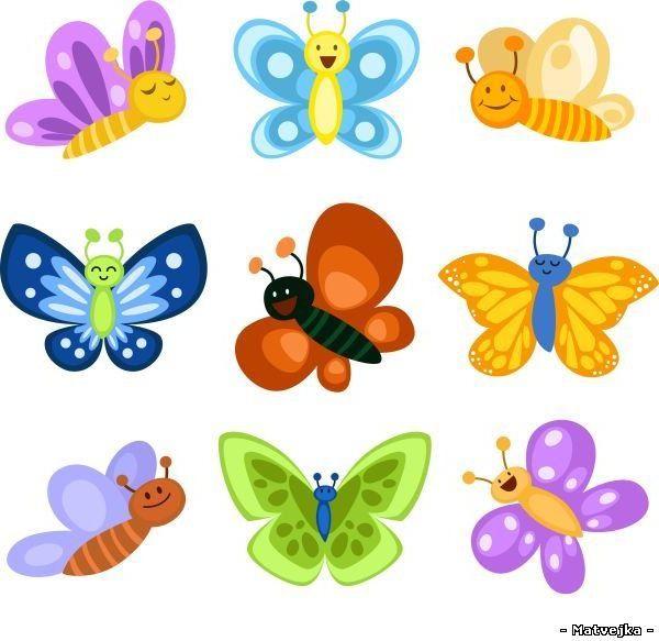 Детский сад рисунки бабочек