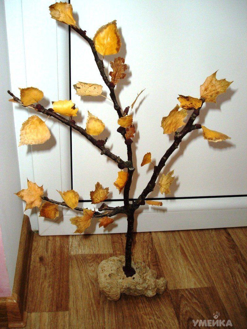 Как сделать поделку дерево из природного материала