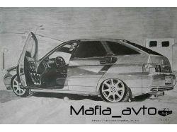 Фото нарисованных машин 4