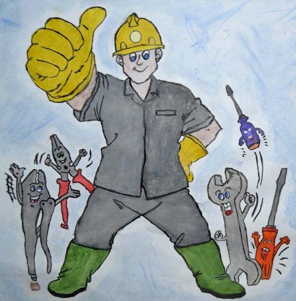 Рисунок шахтёрский труд глазами детей