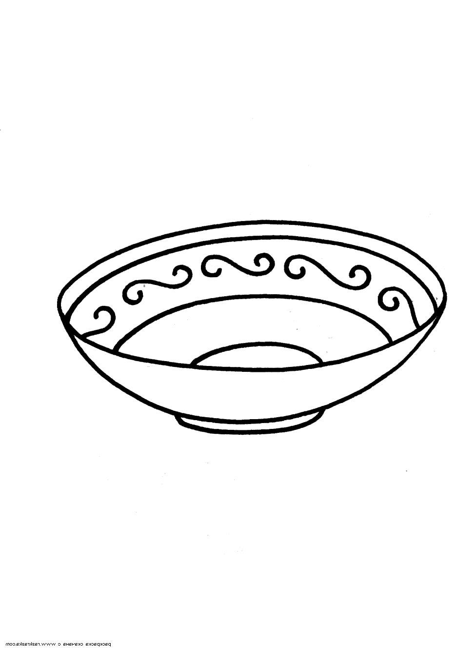 Раскраска тарелка скачать